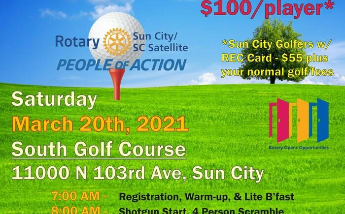 Sun City Rotary 7th Annual Golf Classic Banner