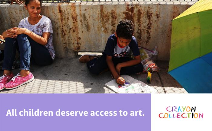 Help us send crayons to migrant children: San Diego Detention Center Banner