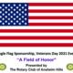 Single Flag, Veterans Day Event Sponsorship